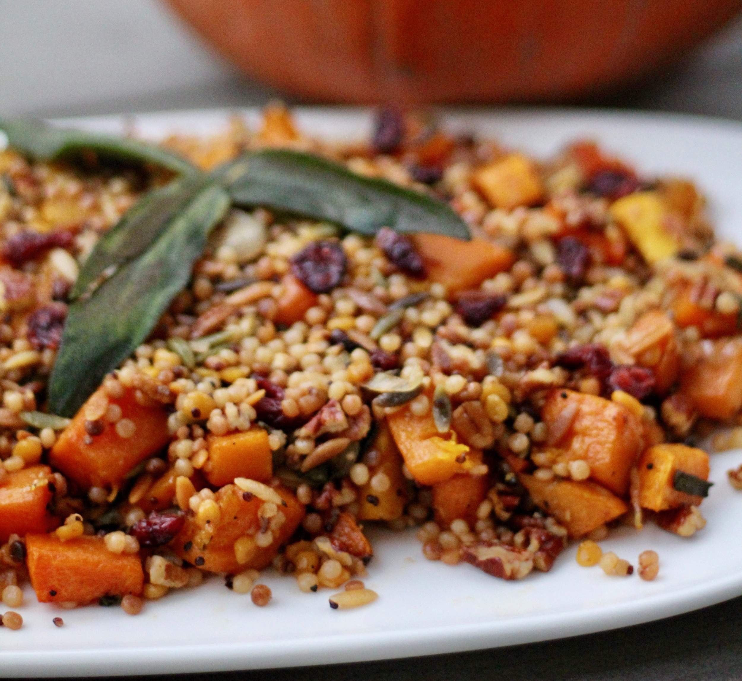 Grains with Roasted Butternut Squash