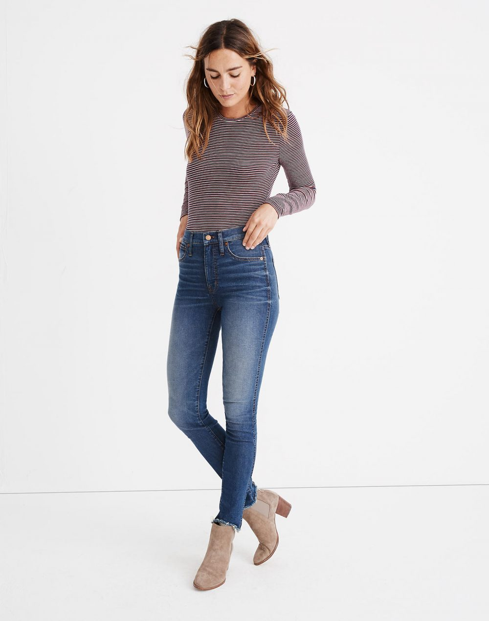 """Madewell 10"""" High-Rise Skinny Jeans in Brockton Wash"""