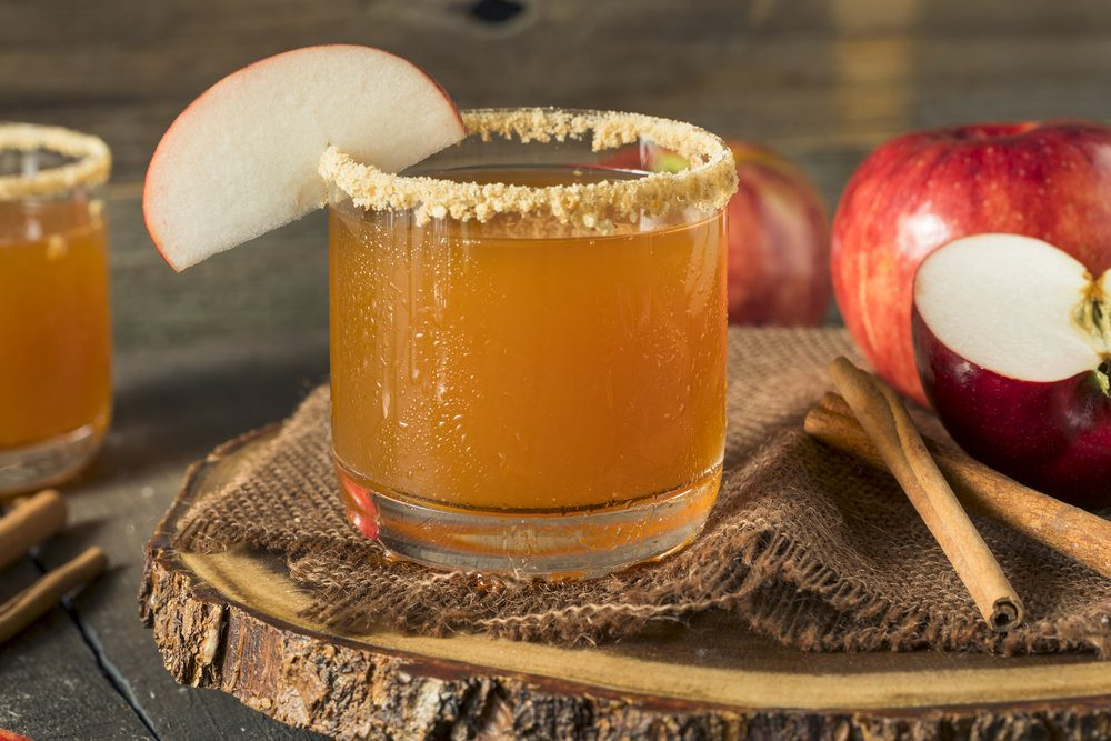 Warm Apple Cider with Maple and Bourbon