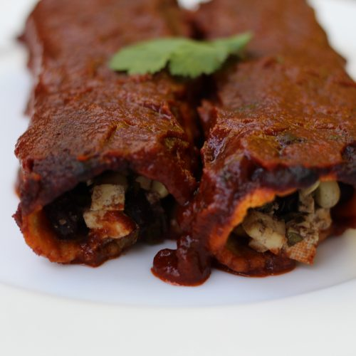 Vegan Black Bean Enchiladas